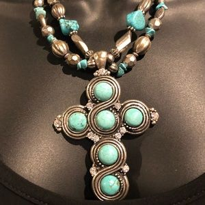 💠Turquoise Cross necklace💠